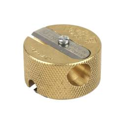 M+R Brass Circular 2-hole Sharpener